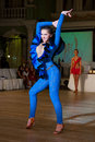 Artistic dance awards moscow october unidentified female teen age competes in latino on the organized by world Royalty Free Stock Images