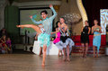 Artistic dance awards moscow october unidentified female teens age compete in latino on the organized by world Royalty Free Stock Photography