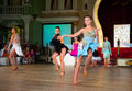 Artistic dance awards moscow october unidentified female teens age compete in latino on the organized by world Stock Photography