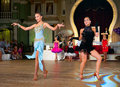 Artistic dance awards moscow october unidentified female teens age compete in latino on the organized by world Royalty Free Stock Images
