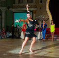 Artistic dance awards moscow october unidentified female teens age compete in latino on the organized by world Stock Images