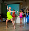 Artistic dance awards moscow october unidentified female teens age compete in latino on the organized by world Royalty Free Stock Image