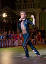 Artistic dance awards moscow october unidentified male teen age competes in latino on the organized by world Stock Photo