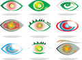 Artistic eyes vector Royalty Free Stock Image