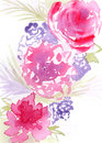 Artistic floral illustration hand drawn watercolor Royalty Free Stock Photography