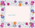 Artistic flower frame Royalty Free Stock Photo