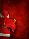 Artistic greeting card or poster design with Santa Claus doll Royalty Free Stock Photo
