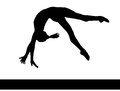 Artistic gymnastics. Gymnastics woman silhouette. PNG available