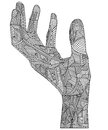 Artistic hand illustration of a in doodle style Stock Photo