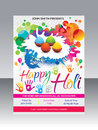 Artistic happy holi flyer