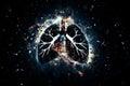 Artistic human organs frozen lung Royalty Free Stock Photos