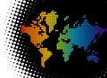 Artistic illustrated world map