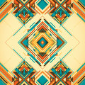 Artistic illustration with geometric abstract shapes Stock Images