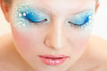 Artistic make-up Royalty Free Stock Photo