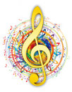 Artistic music key illustration