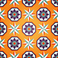 Artistic Orange Seamless Pattern Stock Images