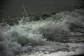 The artistic photo of the wave stopped