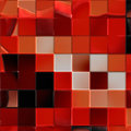 Artistic red tile Royalty Free Stock Images