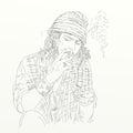 Artistic silkscreen Johnny Depp