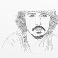 Artistic silkscreen Johnny Depp is an actor, director, musician.