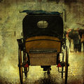 Artistic textured picture of an old horse carriage in gent belgium Stock Photos
