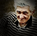Artistic vintage portrait of senior old man Royalty Free Stock Images