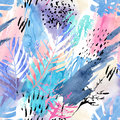 Artistic watercolor seamless pattern.