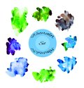 Artistiv vector watercolor set this is file of eps format Royalty Free Stock Photos