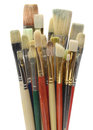 Artists Brushes on White Stock Images