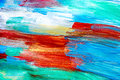 Artists oil paints multicolored abstract texture top view