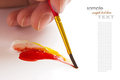 Artists paint brush and paint Royalty Free Stock Photos