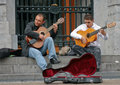 Artists perform on the street Royalty Free Stock Images