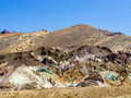 Artists point along artists drive death valley national park he variegated slopes of palette in california various mineral Stock Photos