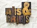 Arts & Crafts Letterpress Royalty Free Stock Photo