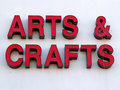 Arts and Crafts sign Stock Photography