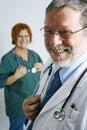 Arts en verpleegster Stock Afbeelding