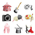 Arts entertainment icons Stock Image