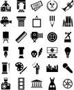 Arts icons Royalty Free Stock Photo
