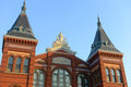 Arts and industries building in washington dc usa is the masterpiece of victorian architecture this belongs to smithsonian museums Stock Images