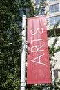 Arts Street Sign Royalty Free Stock Photo