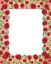 Artsy Folksy Rose Border Frame Royalty Free Stock Images