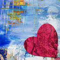 Artwork with heart Royalty Free Stock Photo