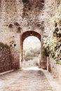 Artwork in retro style, Toscana Stock Image
