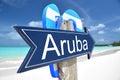 Aruba arrow Royalty Free Stock Photo