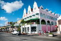 Aruba caribbean house exteriors at oranjestad picture of Royalty Free Stock Photography