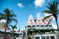Aruba caribbean house exteriors at oranjestad picture of Royalty Free Stock Photos