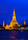Arun temple in Bangkok at twilight time Royalty Free Stock Photo