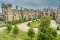Arundel castle courtyard in west sussex uk Royalty Free Stock Photos
