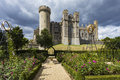Arundel castle gardens Royalty Free Stock Photo