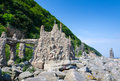 Arx castle on swedish coast artistic nimis tower and Stock Photos